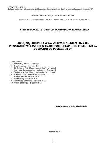 SIWZ - Powiatowy Zarząd Dróg w Pszczynie