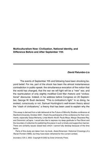 essay on multiculturalism
