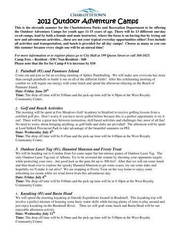 2012-Adventure -Camps-Details .pdf - City of Charlottetown