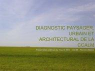 diagnostic paysager, urbain et architectural de la ccalm