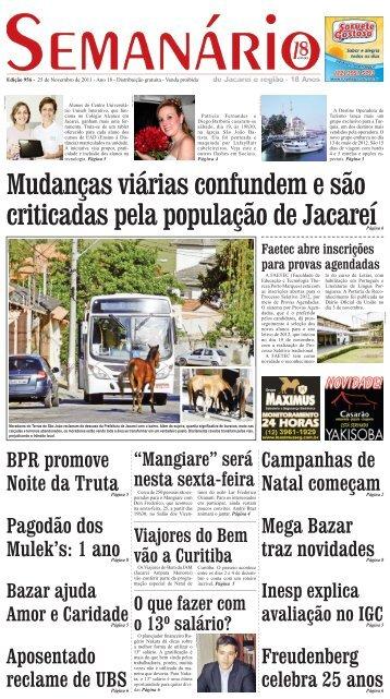 Edição 956, de 25 de novembro de 2011 - Semanário de Jacareí