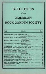 Bulletin - July 1963 - North American Rock Garden Society