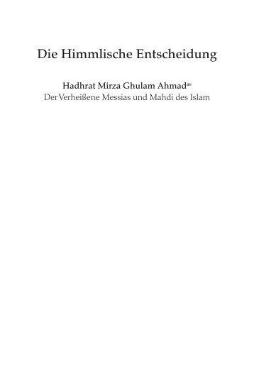 Die Himmlische Entscheidung - Ahmadiyya Muslim Jamaat ...