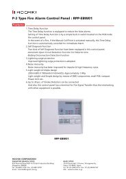 P-2 Type Fire Alarm Control Panel : RPP-EBW01
