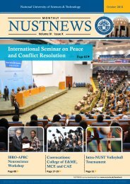 NUSTNEWS October-2013 - National University of Sciences and ...