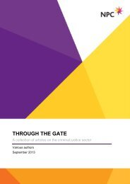 a collection of articles on the criminal justice sector - Social Welfare ...