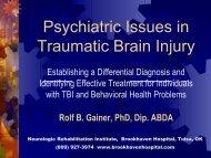 Psychiatric Issues in Traumatic Brain Injury - Neurologic ...