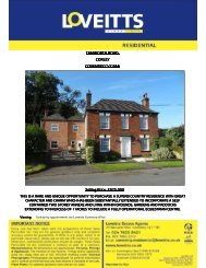 Selling Price - Loveitts Estate Agents