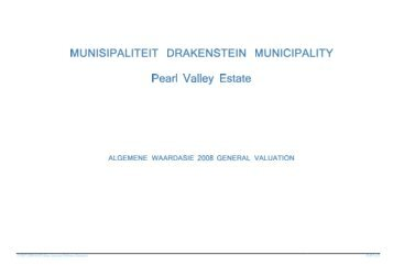 PublishedTown Pearl Valley Estate - Drakenstein municipality