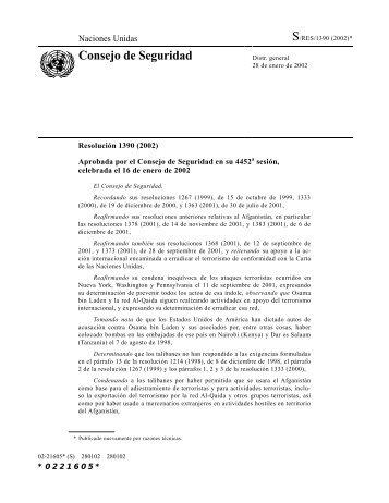 Resolución 1390: Afganistán, 2002 - Acnur