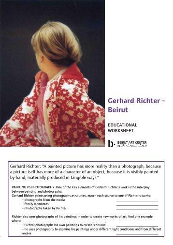 Gerhard Richter - Beirut - Beirut Art Center