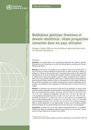 Mutilations génitales féminines et devenir obstétrical : étude ...