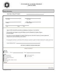 standards of academic progress appeal form - Stark State College