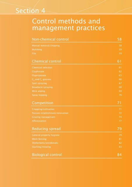 Section 4 Control methods and management ... - Weeds Australia