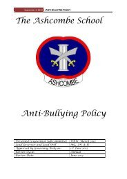 Anti-Bullying Policy - Ashcombe School