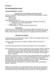Die Siedlungspolitik Israels - Deutsch-Israelische Gesellschaft