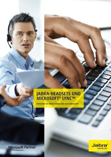 JAbrA-heADSeTS unD MICrOSOfT® lynC™