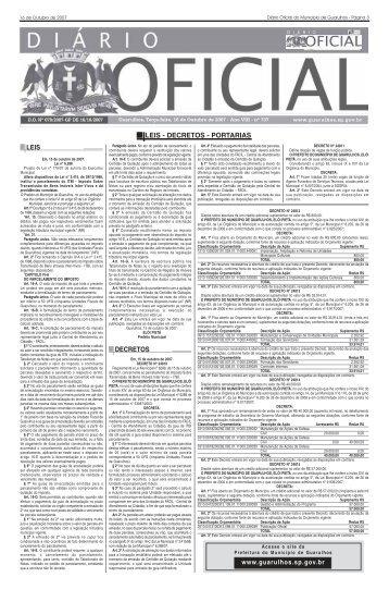 Páginas de 03 a 26 - Legal - Prefeitura de Guarulhos