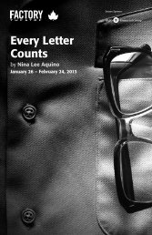 Every Letter Counts - Factory Theatre