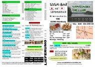 Sushi Bar - WASABI De LUXE