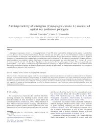 Antifungal activity of lemongrass (Cympopogon citratus L.) essential ...