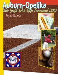 Dixie Youth AAA State Tournament 2012 - City of Auburn