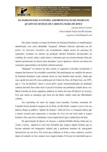Luciana Paiva Coronel - X Encontro Estadual de História – ANPUH ...