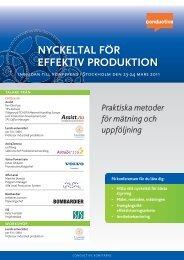 EFFEKTIV PRODUKTION NYCKELTAL FÖR - Conductive