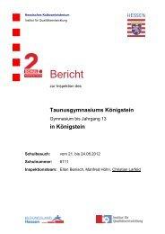 Bericht der Schulinspektion 2012 - Taunusgymnasium