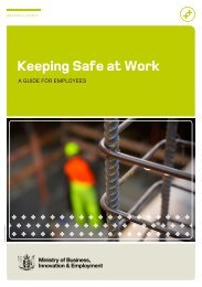 Keeping Safe at Work - A Guide for Employees - Business.govt.nz