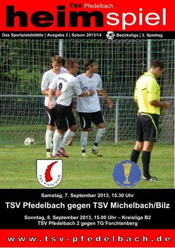 TSV Pfedelbach gegen TSV Michelbach/Bilz