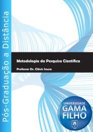 metodologia da pesquisa científica - Universidade Gama Filho