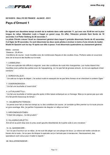 Pays d'Ormont 1 - FFSA