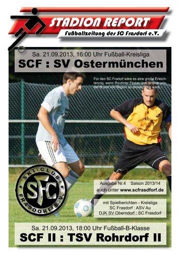 Stadion Report Druck Ausgabe 4 Homepage - SC Frasdorf