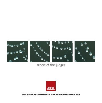 2005 report of the judges - Singapore Polytechnic
