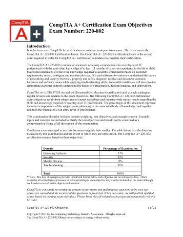 CompTIA A 220-901 And 220-902 Exam Cram Books Pdf File