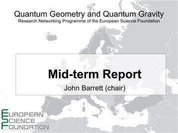 Research, Loop Quantum Gravity - European Science Foundation