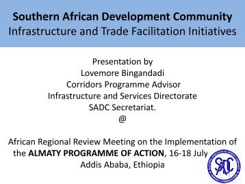 Southern African Development Community - United Nations ...