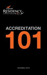 ACCREDITATION - SingHealth Residency