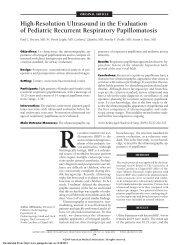 High-Resolution Ultrasound in the Evaluation of ... - JAMA Pediatrics