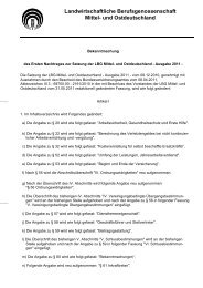 28.02.2012 Erster Nachtrag zur Satzung der LBG MOD - SVLFG