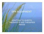 SPA EQUIPMENT - Bali Spa & Wellness Association