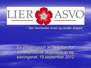 Lier ASVO AS - om selskapet - Lier kommune