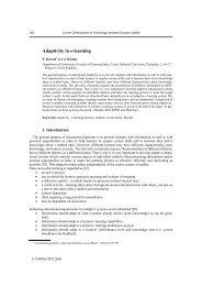 Adaptivity in e-learning - karlovi.cz
