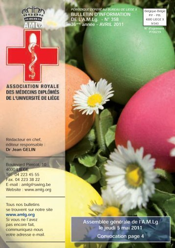 Bulletin d'Avril 2011 - AMLG