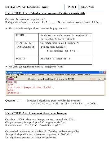 Info 1 - en classe