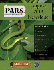 Download the PARS AUGUST 2013 Newsletter - Pennsylvania ...