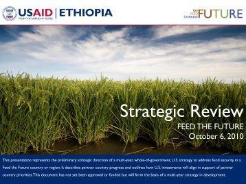Ethiopia Strategic Review - Feed the Future