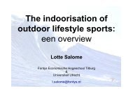 Lotte Salomé - The indoorisation of outdoor sports
