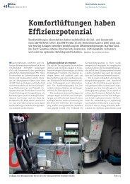Komfortlüftungen haben Effizienzpotenzial - Hochschule Luzern